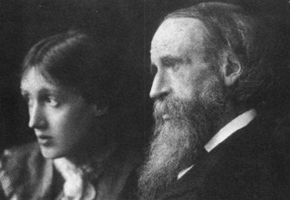 vIRGINIA WOOLF CON SU PADRE